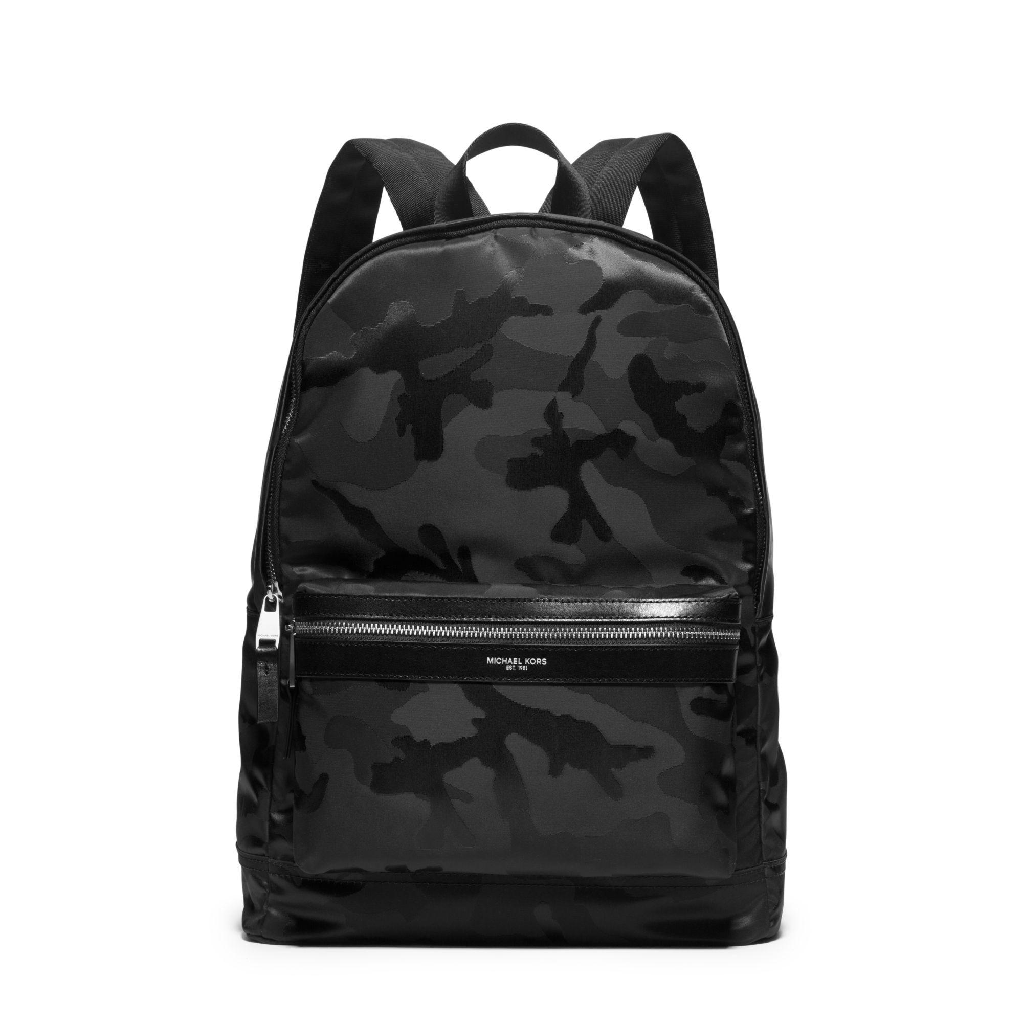 Michael Kors Kent Camouflage Nylon Jacquard Backpack In