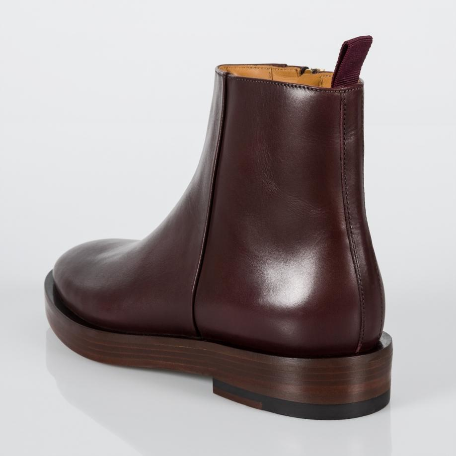 paul smith women 39 s bordeaux calf leather 39 barney 39 ankle boots in purple lyst. Black Bedroom Furniture Sets. Home Design Ideas