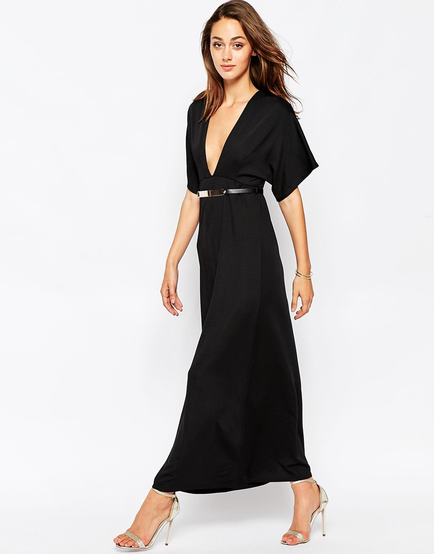 676cd575b1 Deep V Maxi Dress With Sleeves - Photo Dress Wallpaper HD AOrg