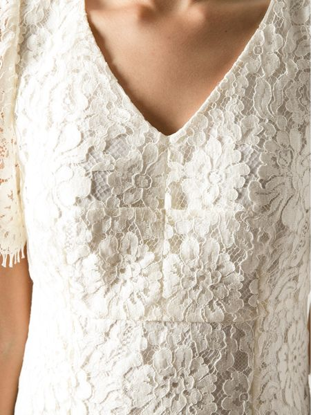 Dolce Gabbana Lace Bridal Dress In White Lyst