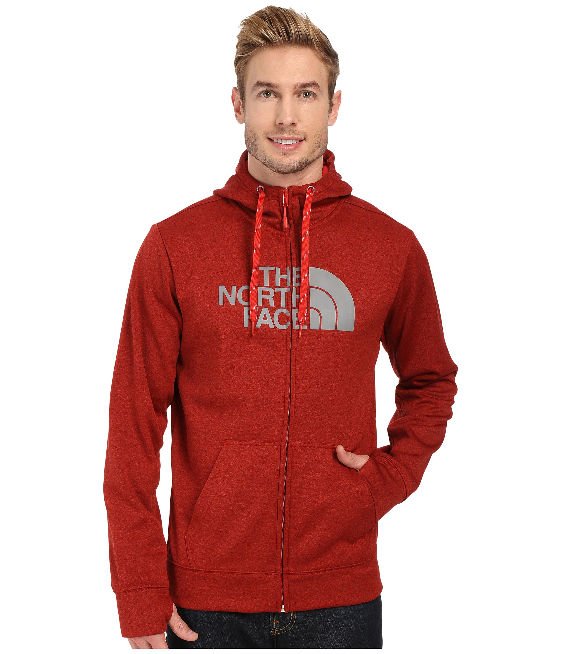 North Face Men/'s Surgent Half Dome Full Zip Hoodie NWT