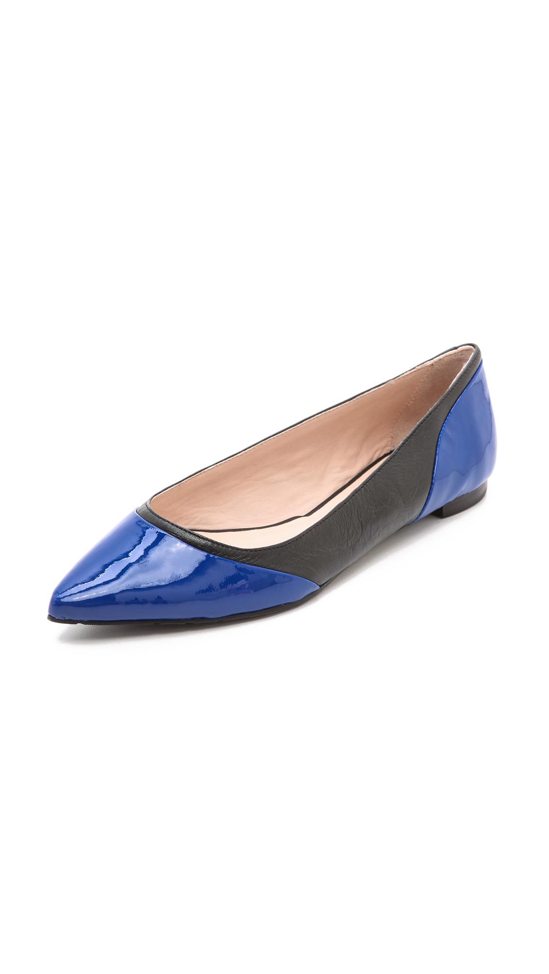 Lyst kate spade new york glinda colorblock flats in blue for Kate spade new york flats