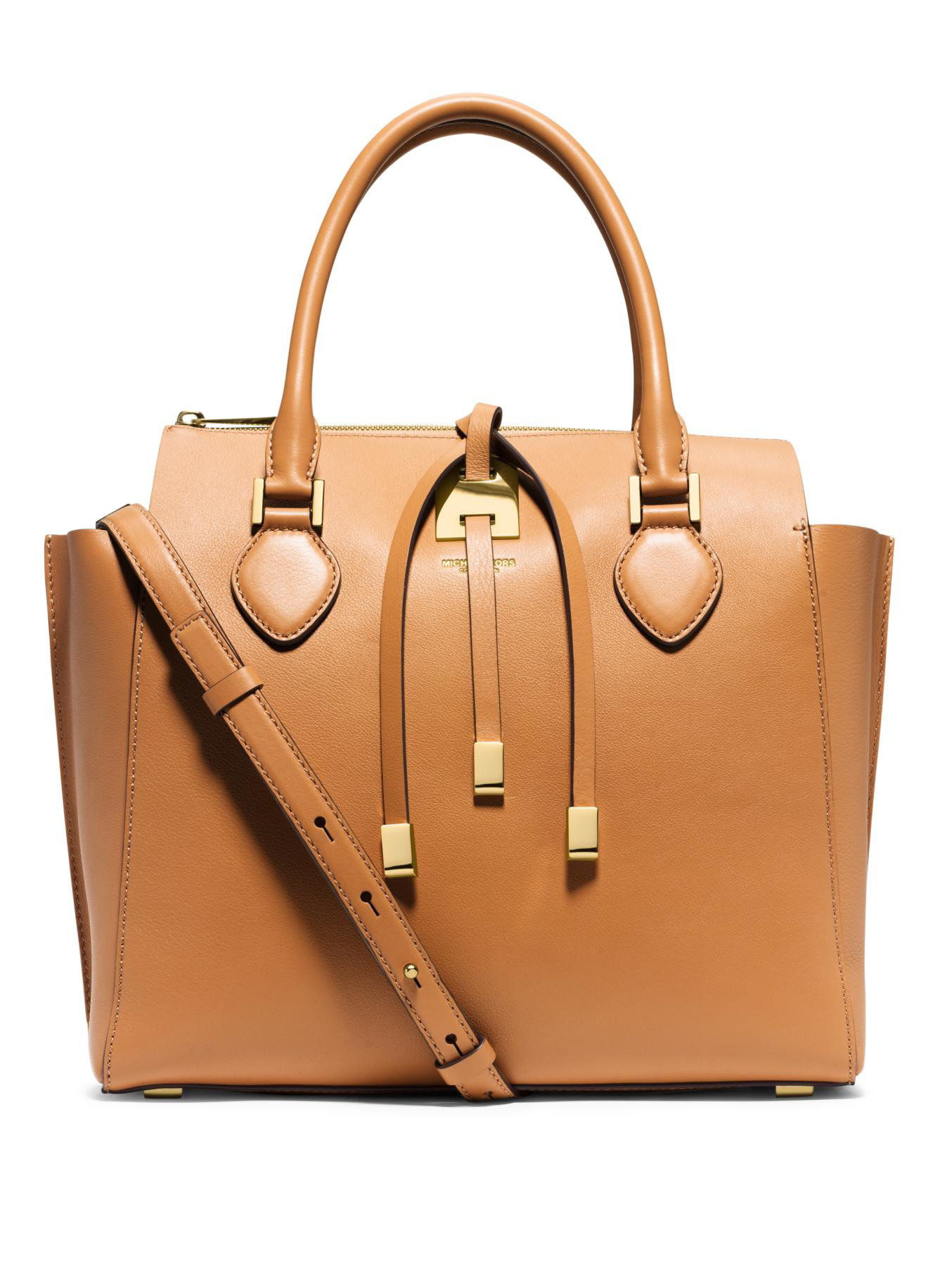 a657b6a80bde ... sweden lyst michael kors miranda large top zip tote in brown 86e87 0b2f2