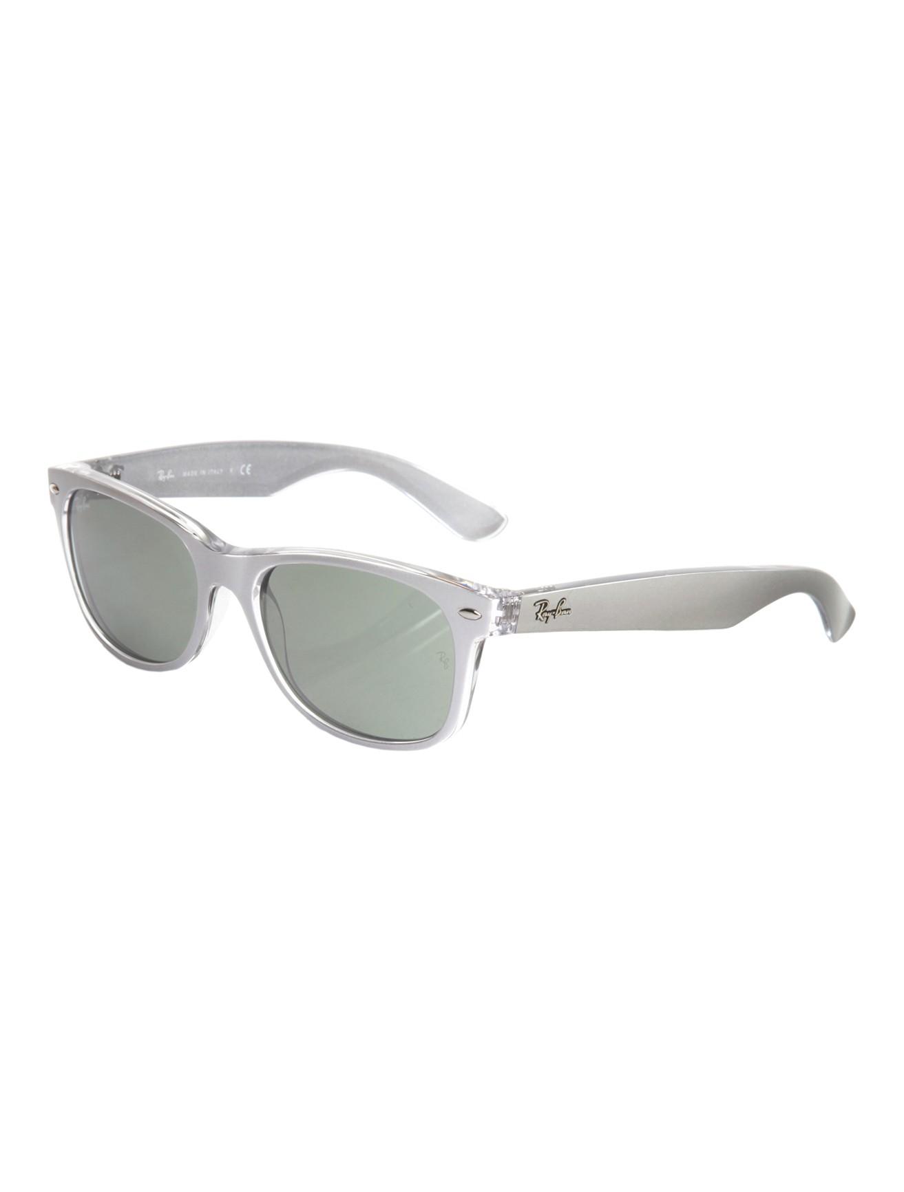 Clear Frame Ray Ban Wayfarer Glasses : Ray-ban Clear Wayfarer Sunglasses in Silver Lyst