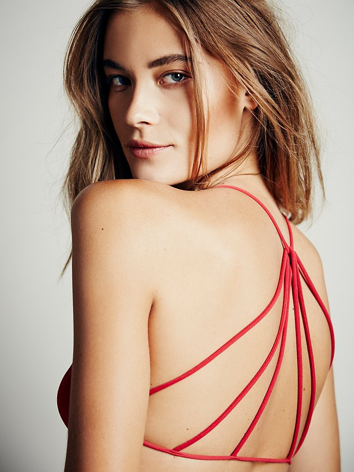 cee1cd1ed9 Lyst - Free People Strappy Back Bra in Red
