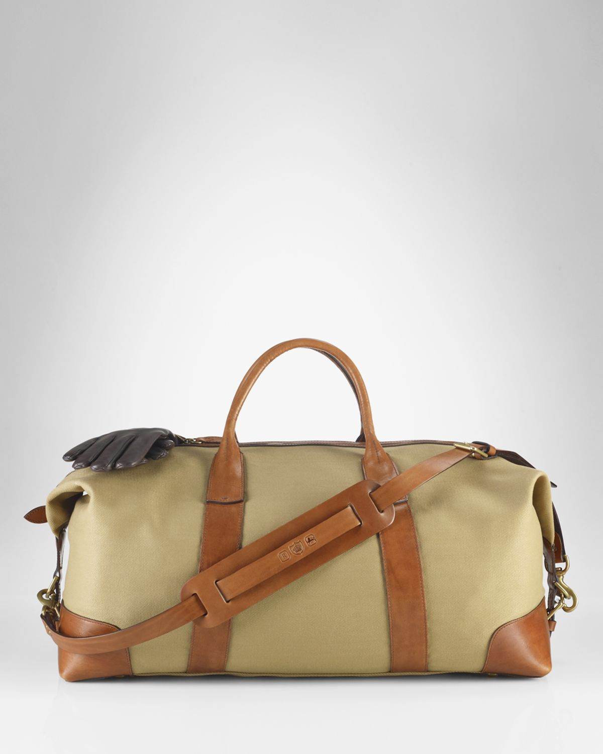 a83f93fd40da ... shop norway lyst ralph lauren polo canvas duffle bag in natural for men  cef01 8aa9c 18767