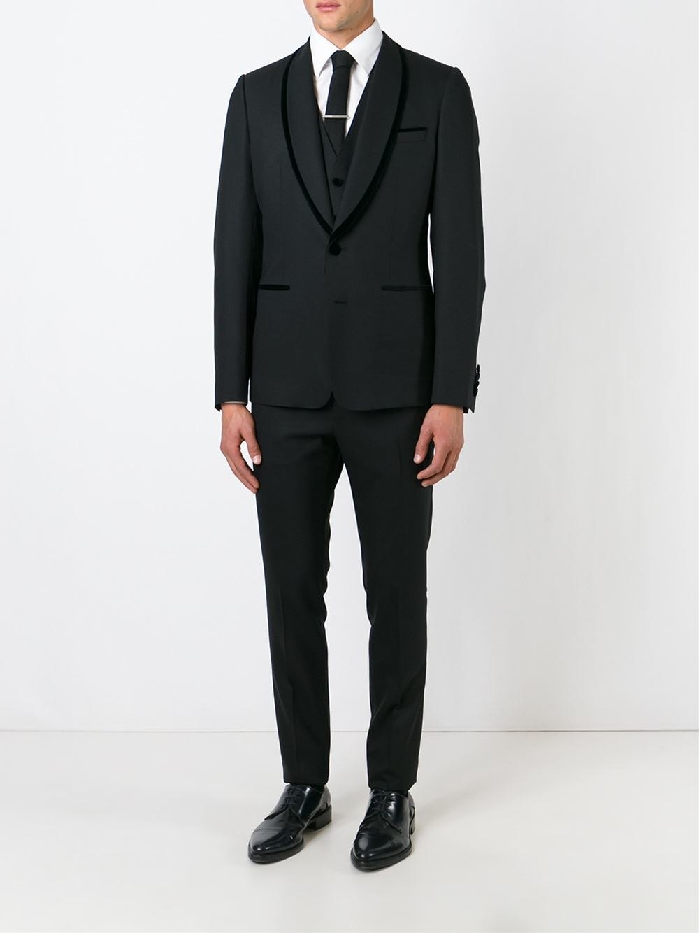Dolce Amp Gabbana Three Piece Suit In Black For Men Lyst