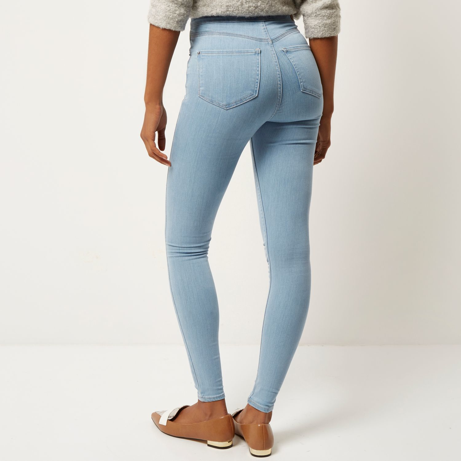 Gallery. Women's Jeggings Women's Light Wash Jeans - River Island Light Wash High Waisted Molly Jeggings In Blue Lyst