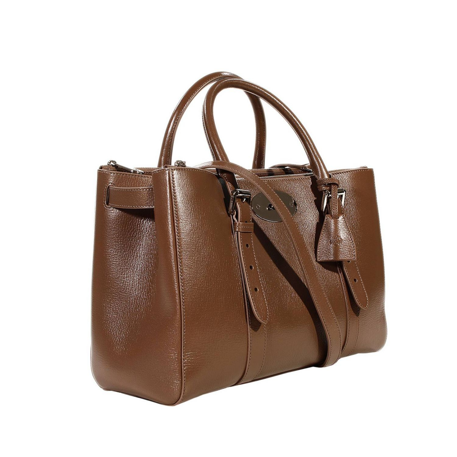 Mulberry handbag bayswater double zip classic calf in gray for The bayswater