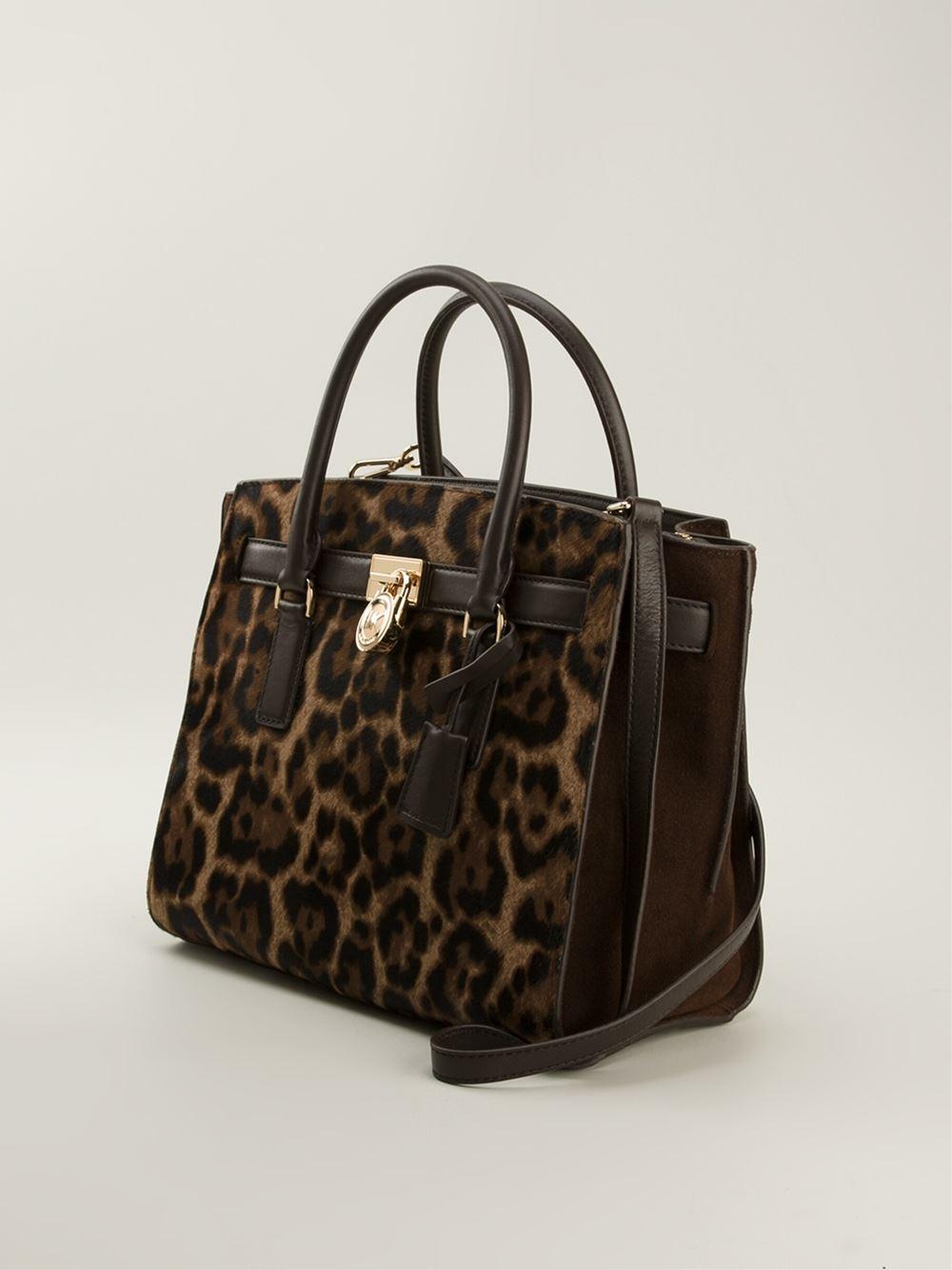 5dc514800fc9bb canada animal print michael kors purse 99888 1e3e7; promo code michael  michael kors hamilton traveler leopard print satchel in bb4ef b3bc1