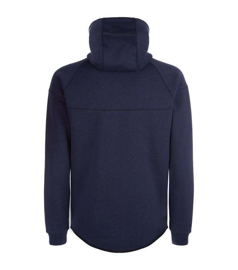lyst nike tech fleece windrunner hoodie in blue for men. Black Bedroom Furniture Sets. Home Design Ideas