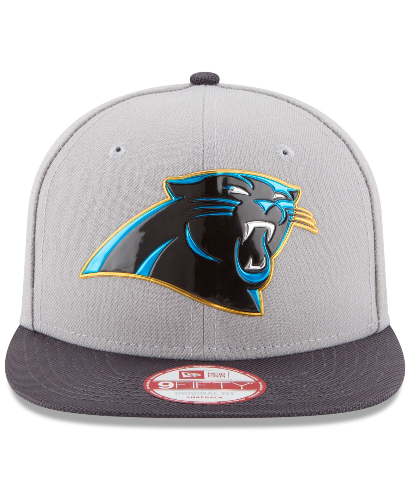 Lyst - KTZ Carolina Panthers Gold Collection 9fifty Snapback Cap in ... f7c3d7c47