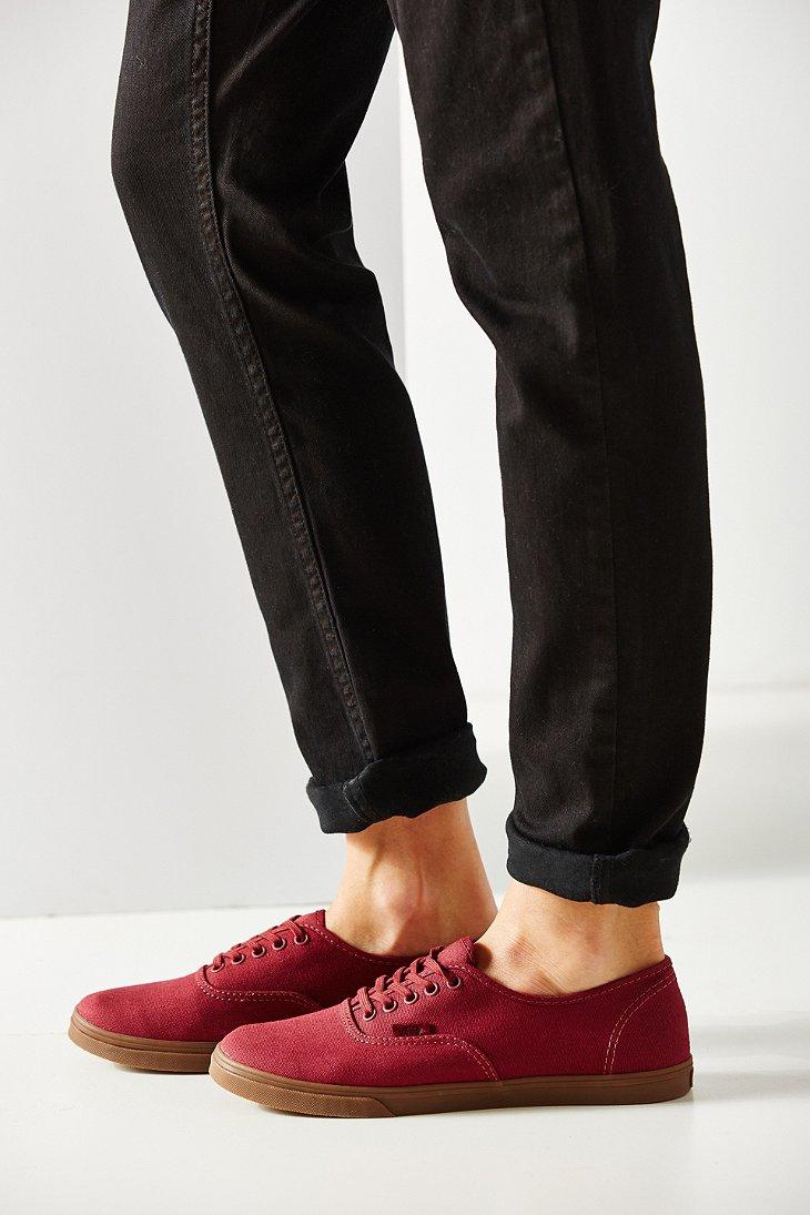 de6fa751edfad5 Lyst - Vans Gumsole Authentic Lo Pro Sneaker in Red