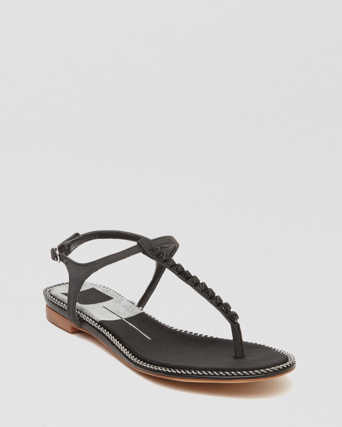Lyst - Dolce Vita Flat Thong Sandals Ensley Studded T Strap in Black