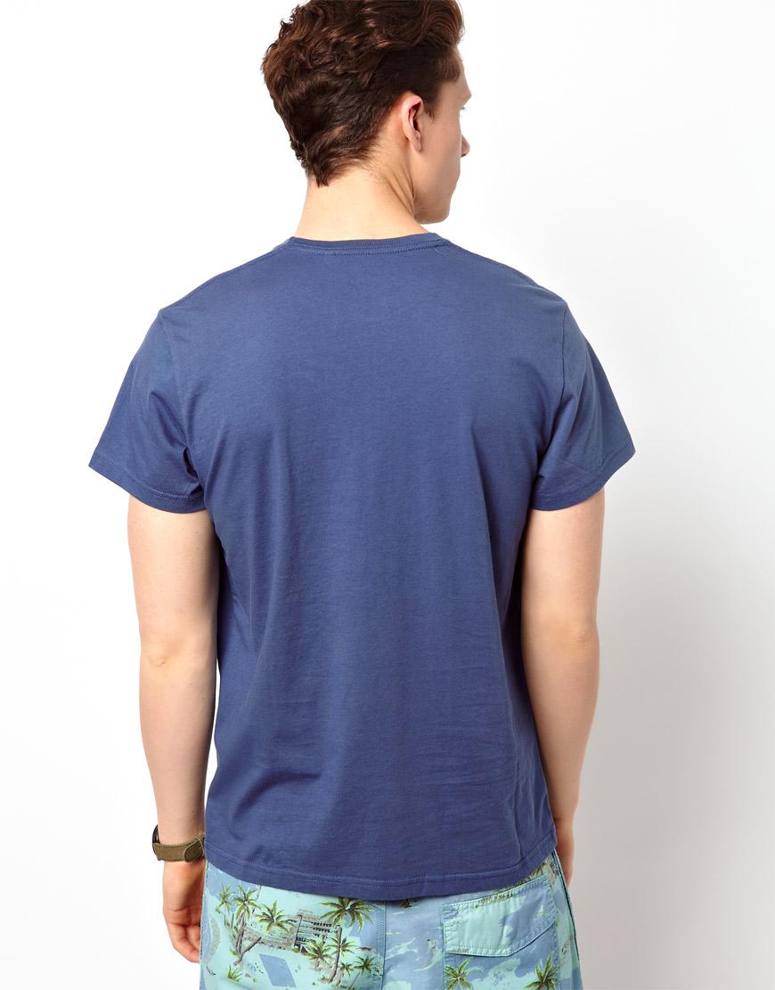 pepe jeans pepe tshirt raff rainbow logo in blue for men. Black Bedroom Furniture Sets. Home Design Ideas