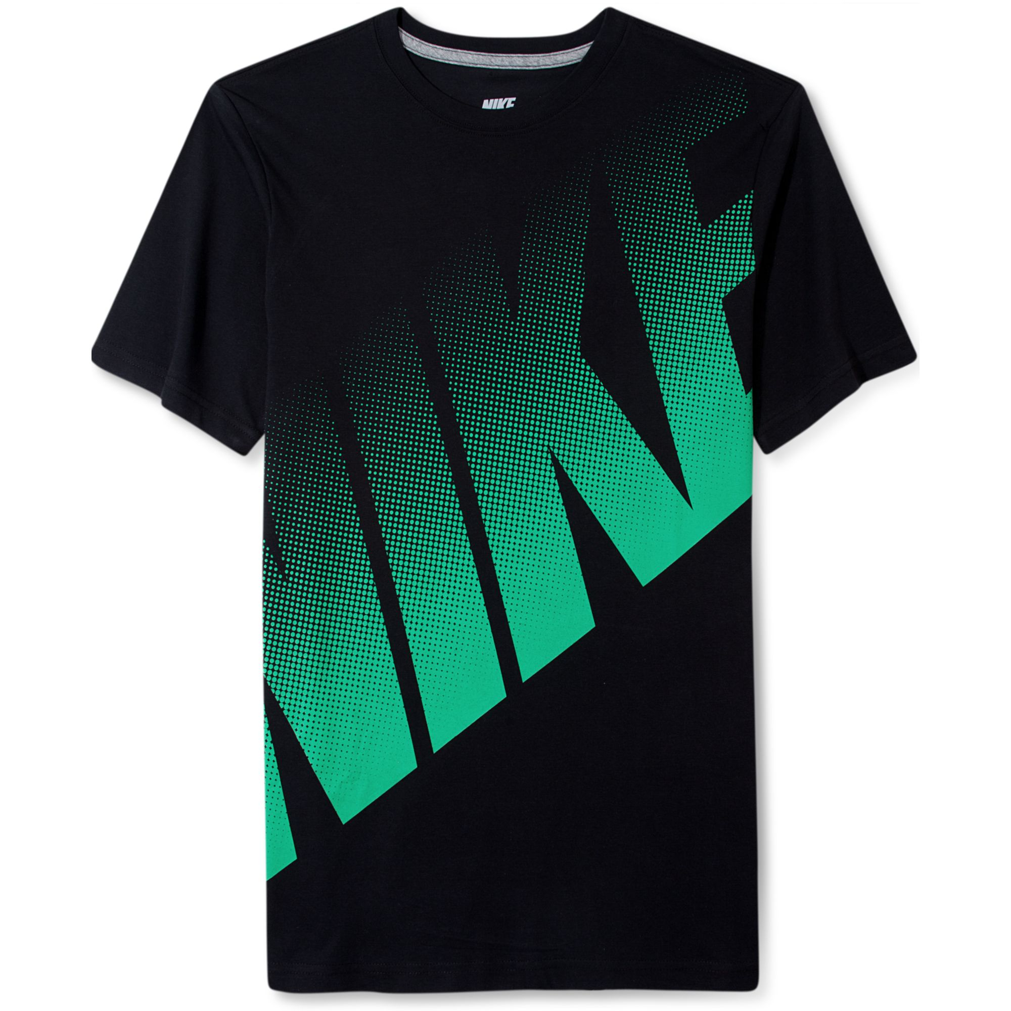 nike big dot logo t shirt in green for men black lyst. Black Bedroom Furniture Sets. Home Design Ideas