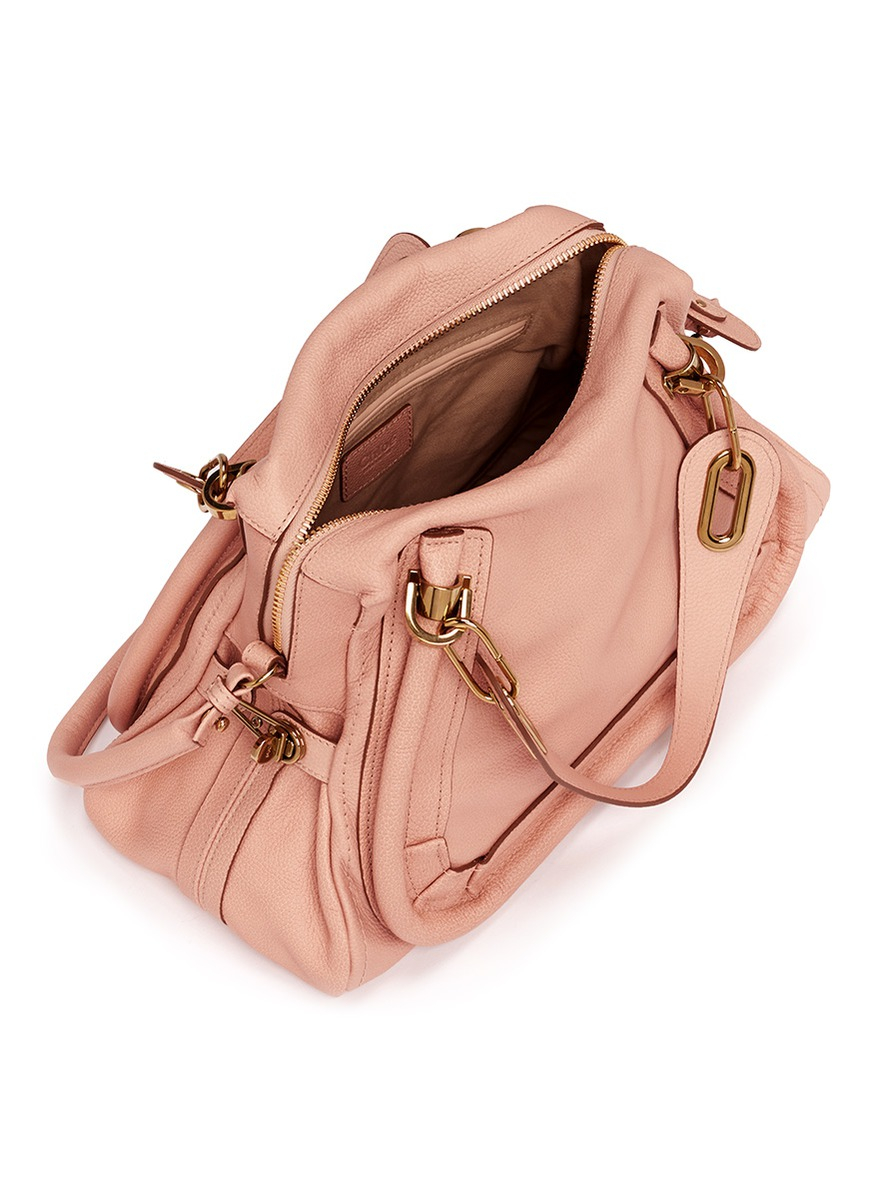 Chlo¨¦ \u0026#39;paraty\u0026#39; Medium Leather Bag in Pink | Lyst