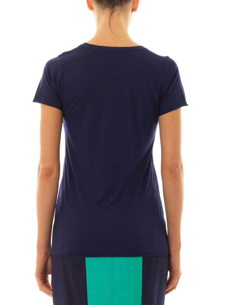 0d19d45de93c2 Lyst - Zoe Karssen I M Only Happy When It Rains-Print T-Shirt in Blue