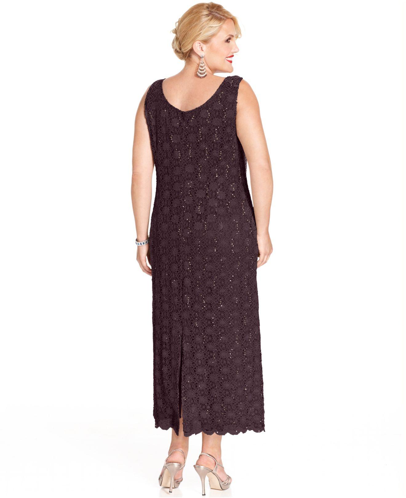 Lyst - R & M Richards Plus Size Dress And Jacket, Sleeveless ...