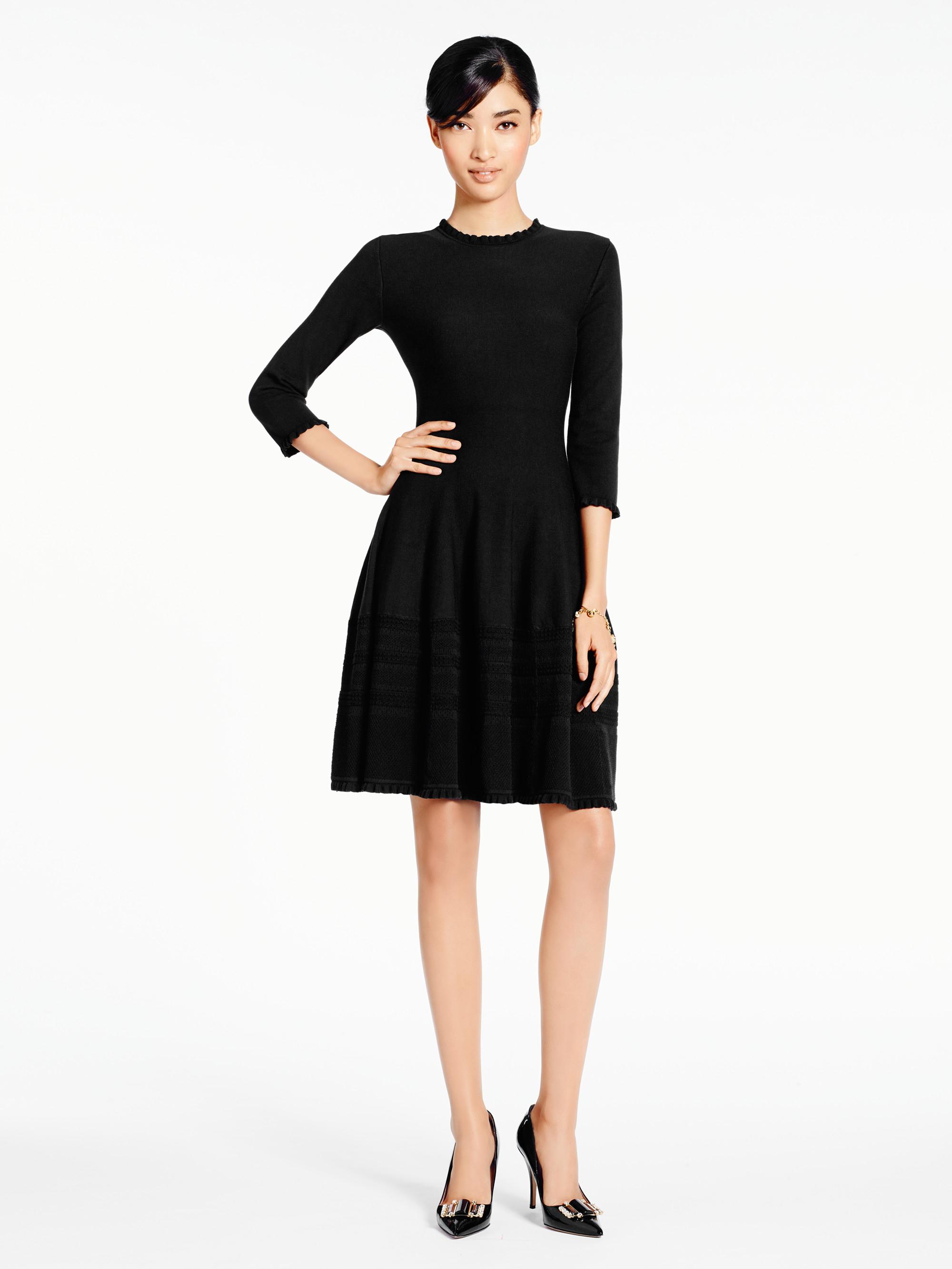 Lyst Kate Spade New York Pointelle Sweater Dress In Black