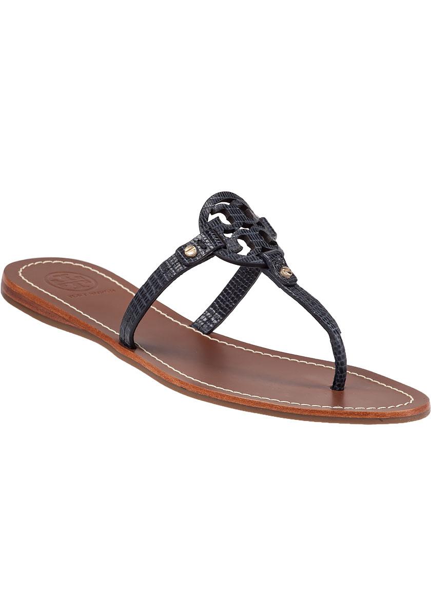 bdf3cf8fa Lyst - Tory Burch Mini Miller Flat Sandals in Blue