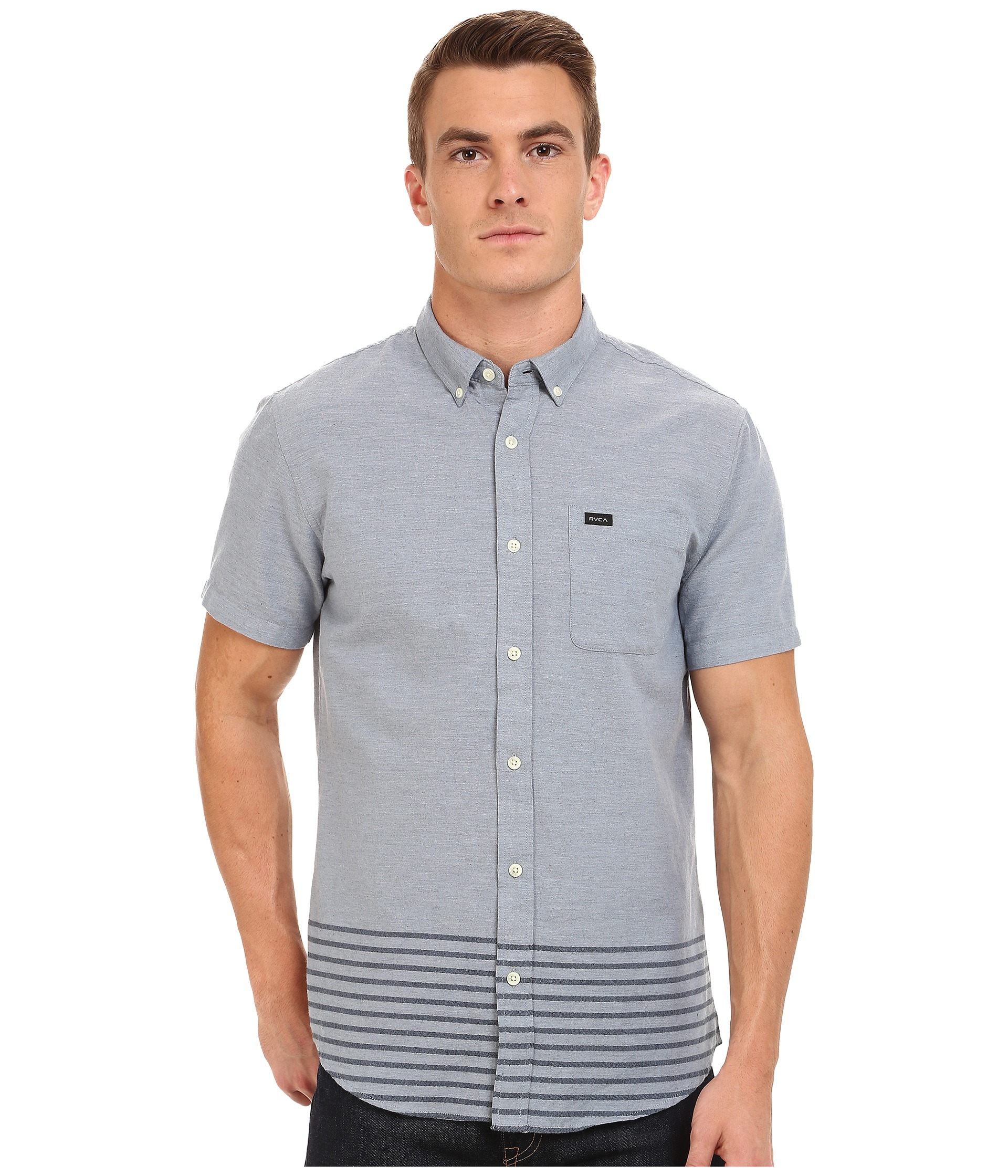 rvca that u0027ll do layers short sleeve in blue for men lyst