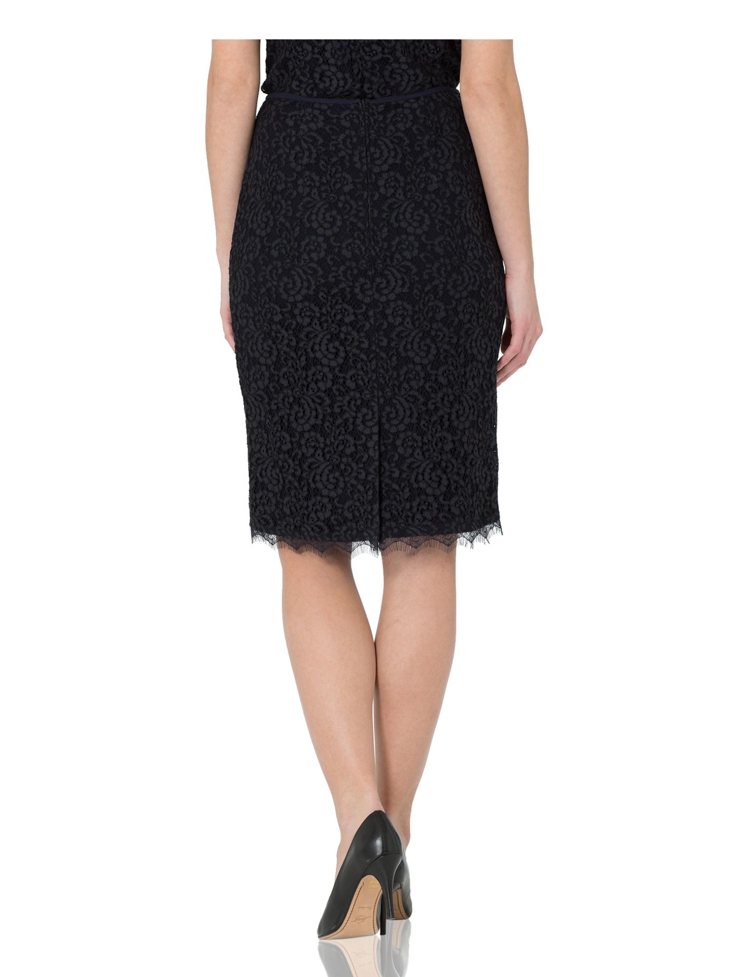 basler lace pencil skirt in blue lyst