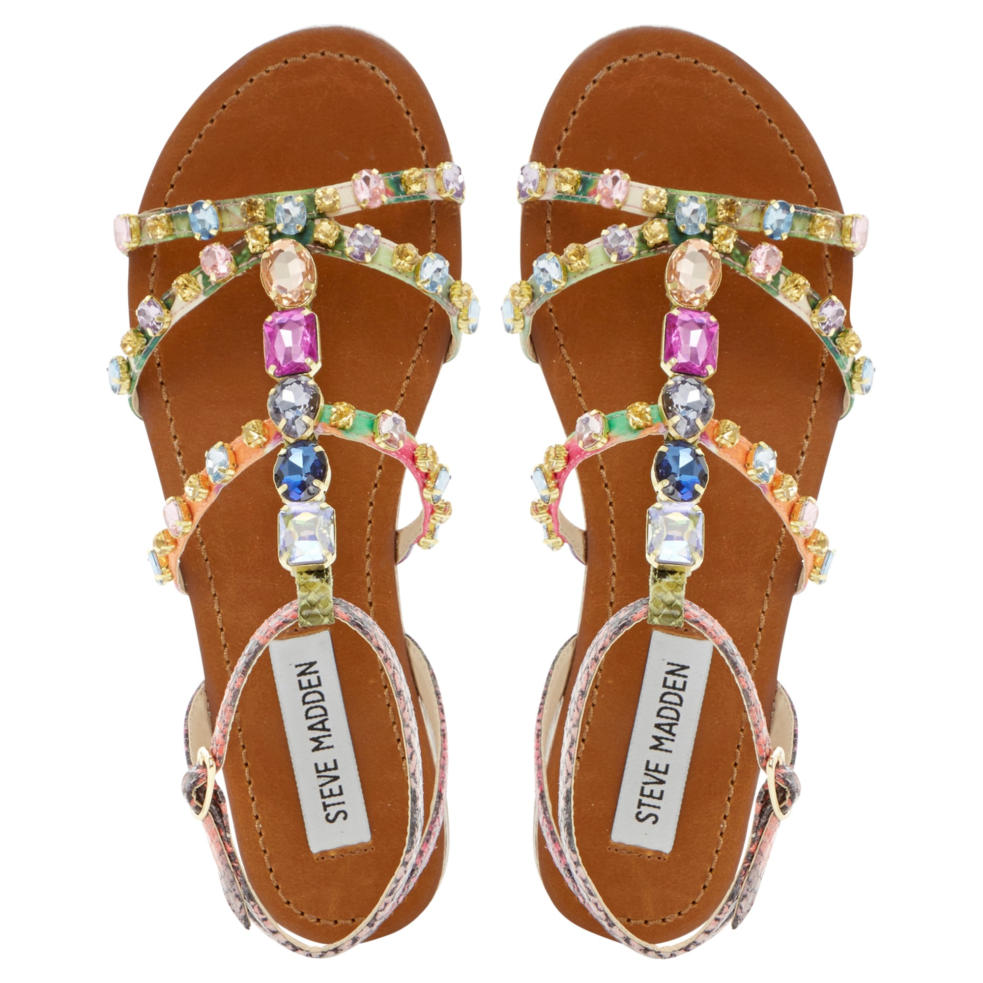 Steve Madden Jewelled Sandals Lyst