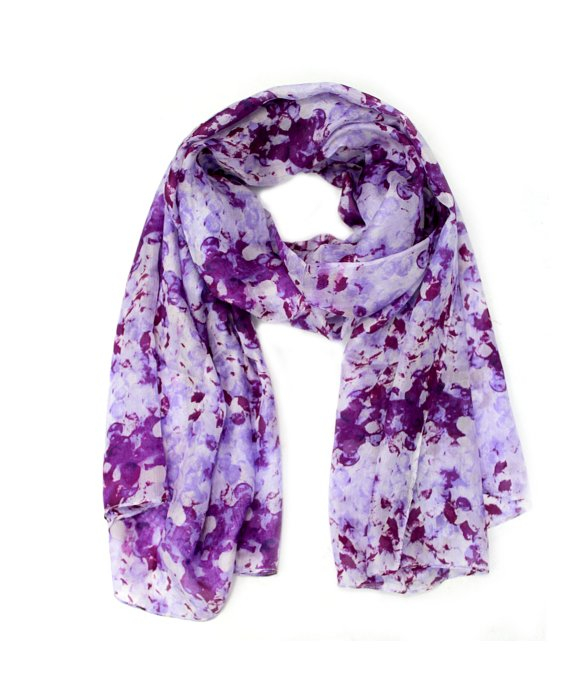 la fiorentina abstract floral silk scarf in purple lyst