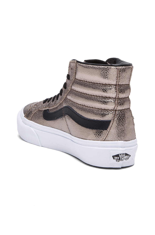 vans sk8-hi slim - sneaker - beige