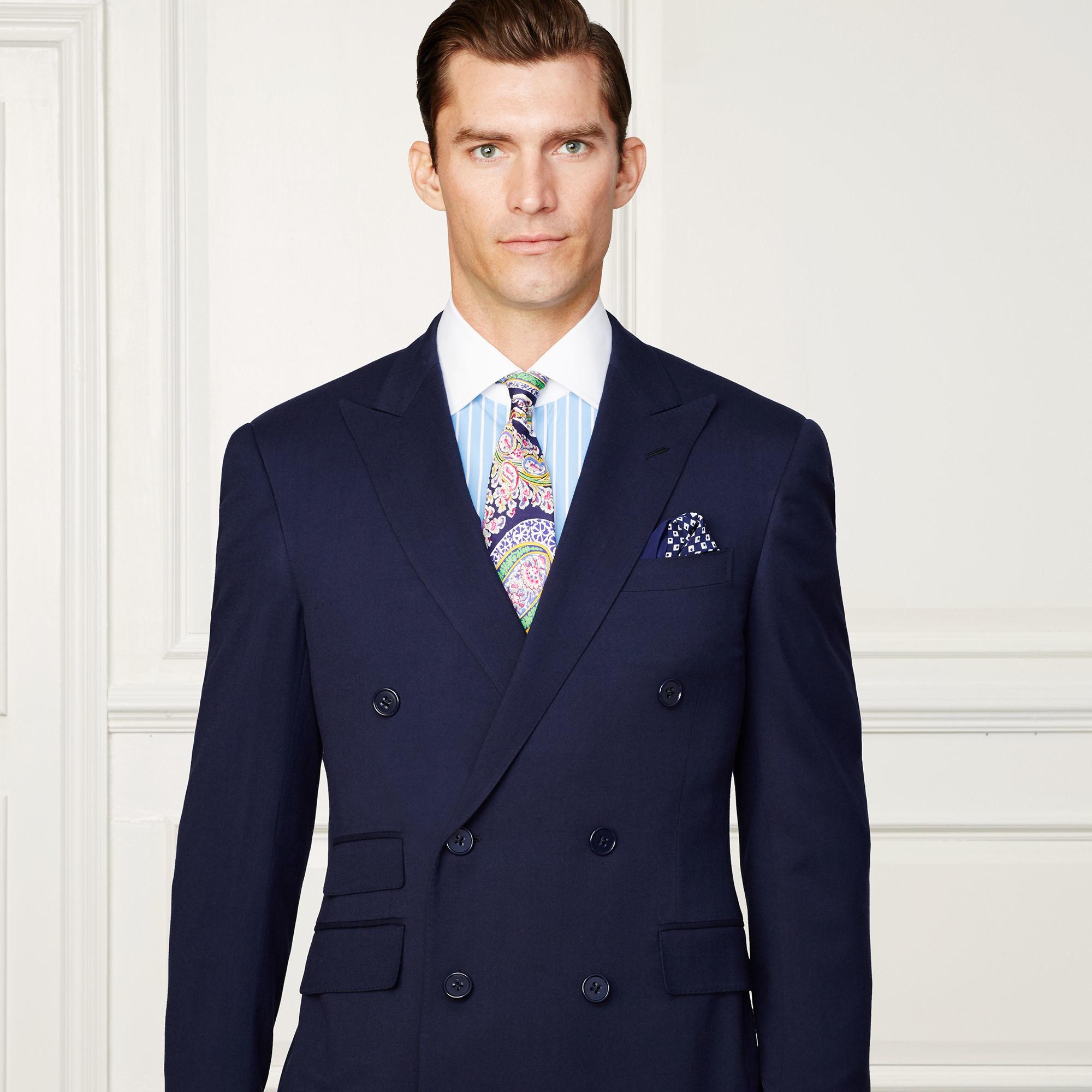 Lyst ralph lauren purple label aston french cuff dress for Purple french cuff dress shirt