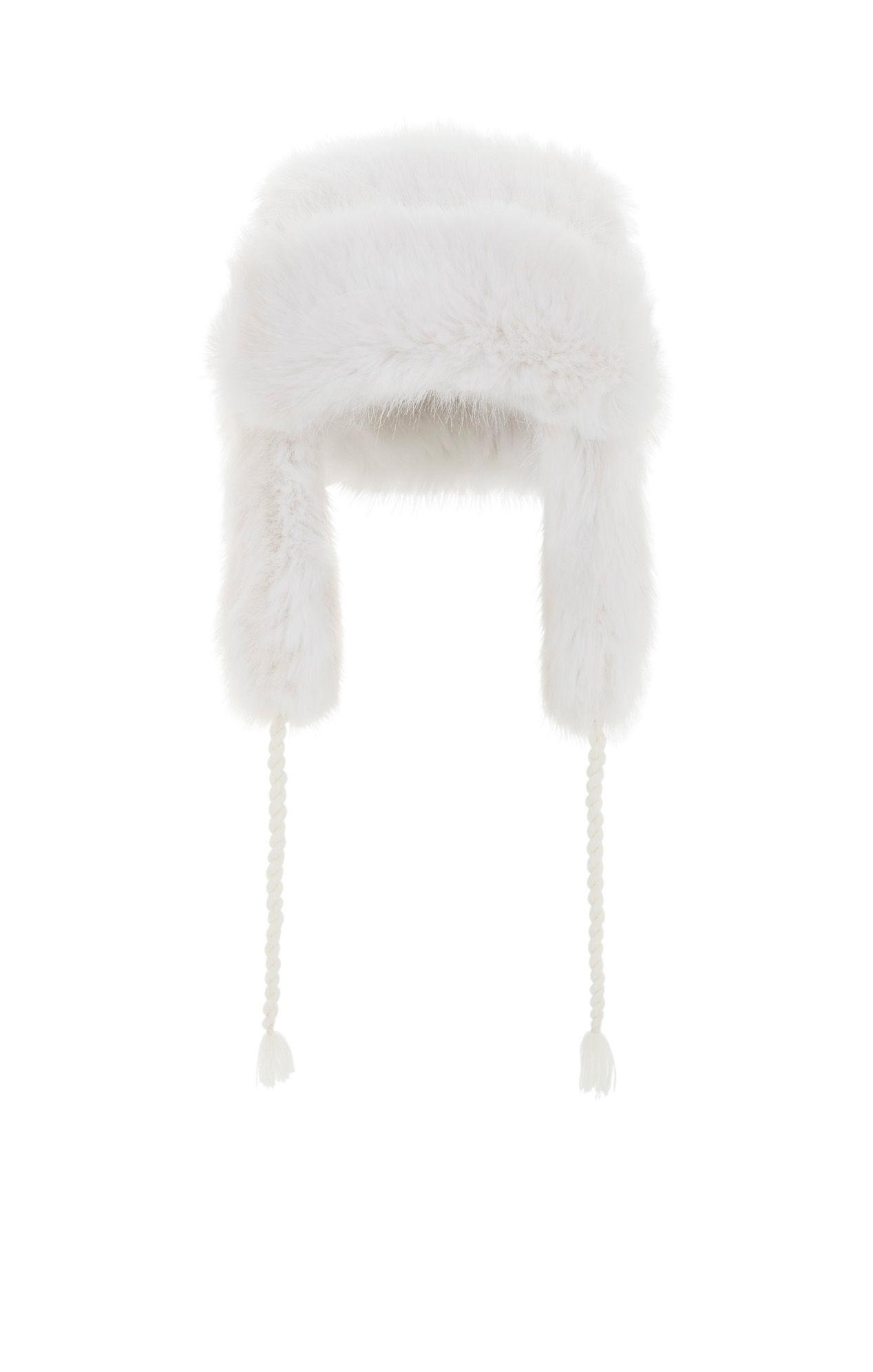 Lyst - BCBGMAXAZRIA Faux-fur Trapper Hat in White d6cac703cbb