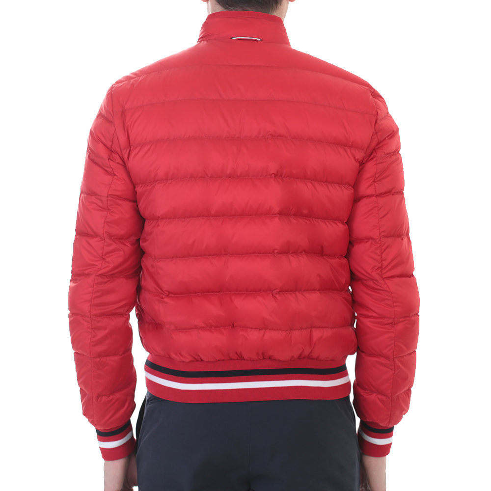 Moncler Gamme Bleu Red Nylon Down Jacket In Red For Men Lyst