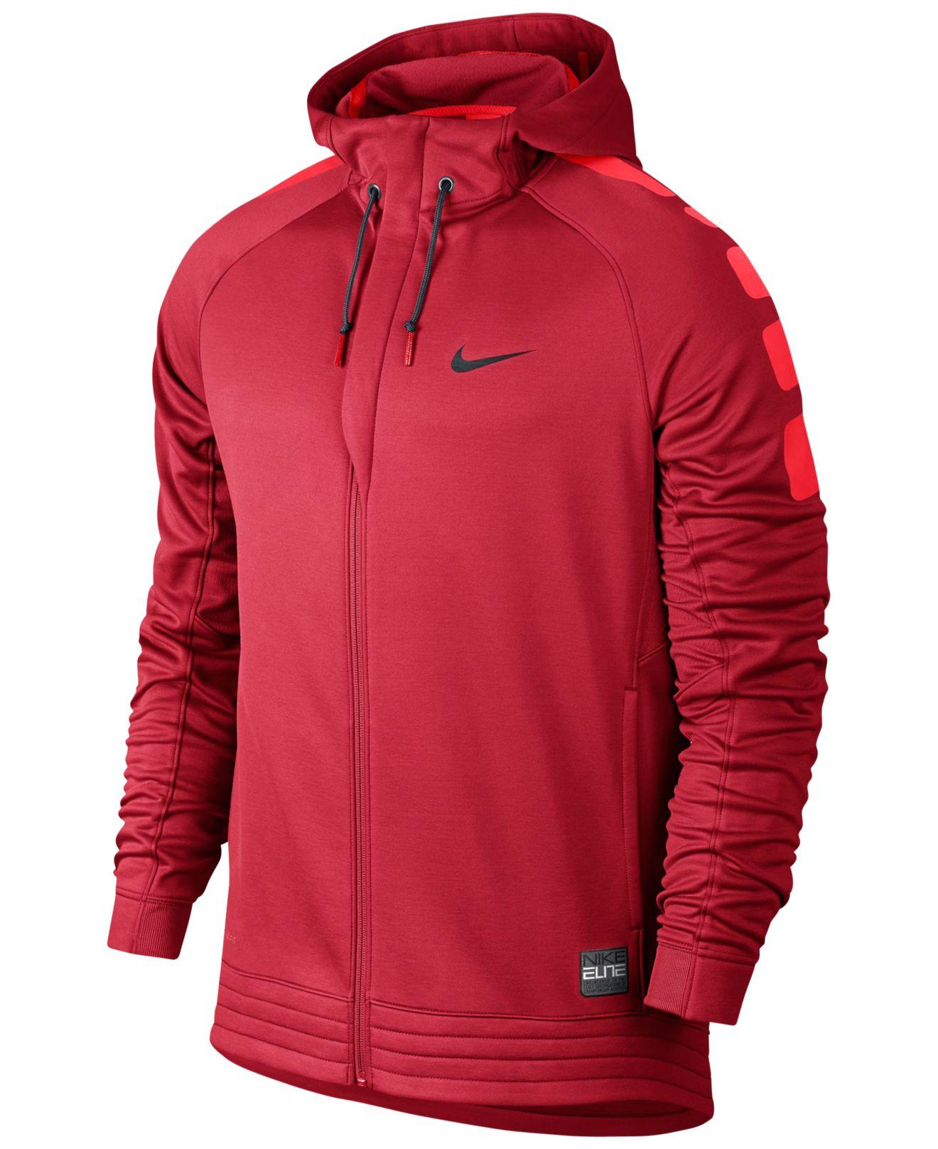 Nike red elite striped full zip basketball hoodie for - Hm herren jeans ...