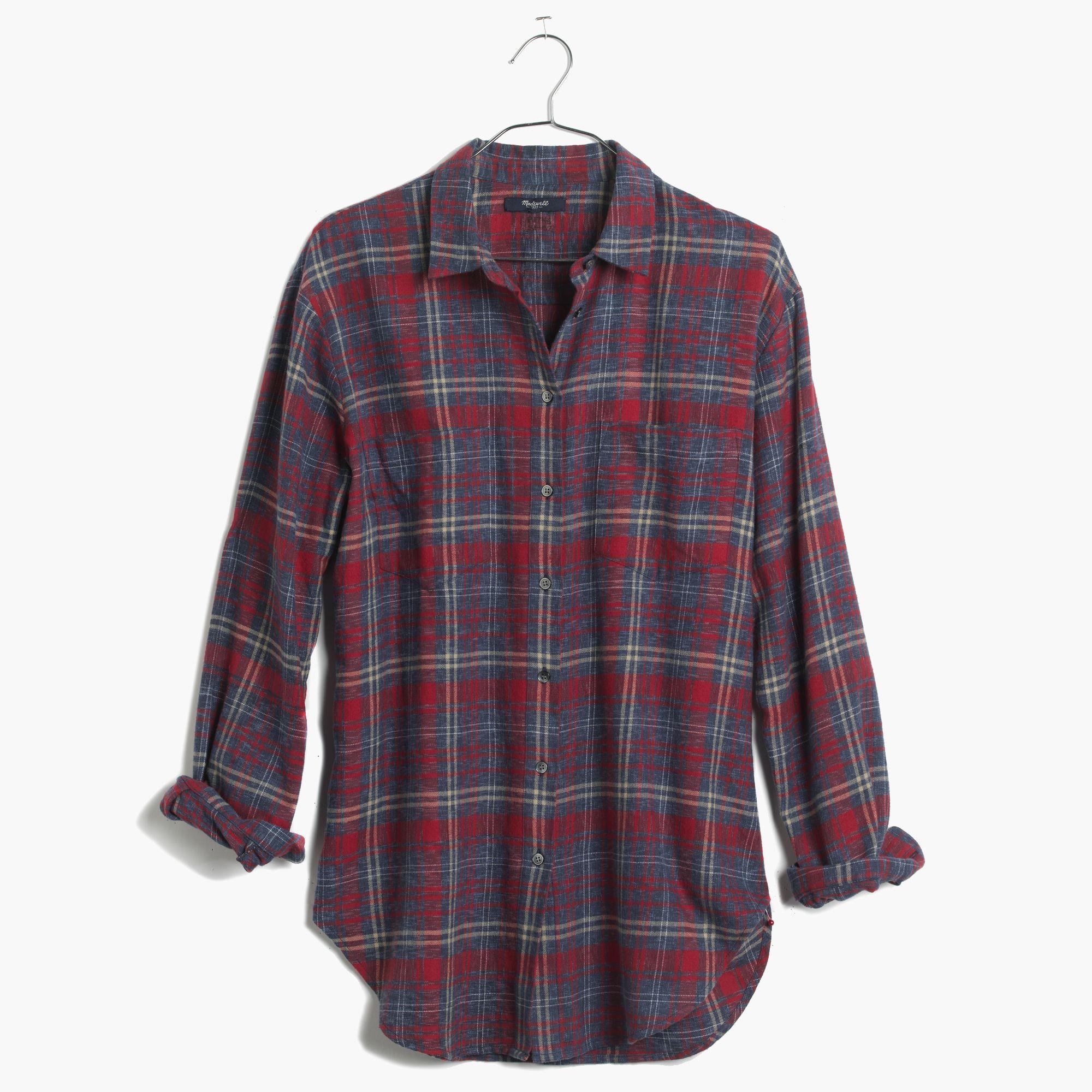 Lyst Madewell Flannel Oversized Boyshirt In Bainbridge