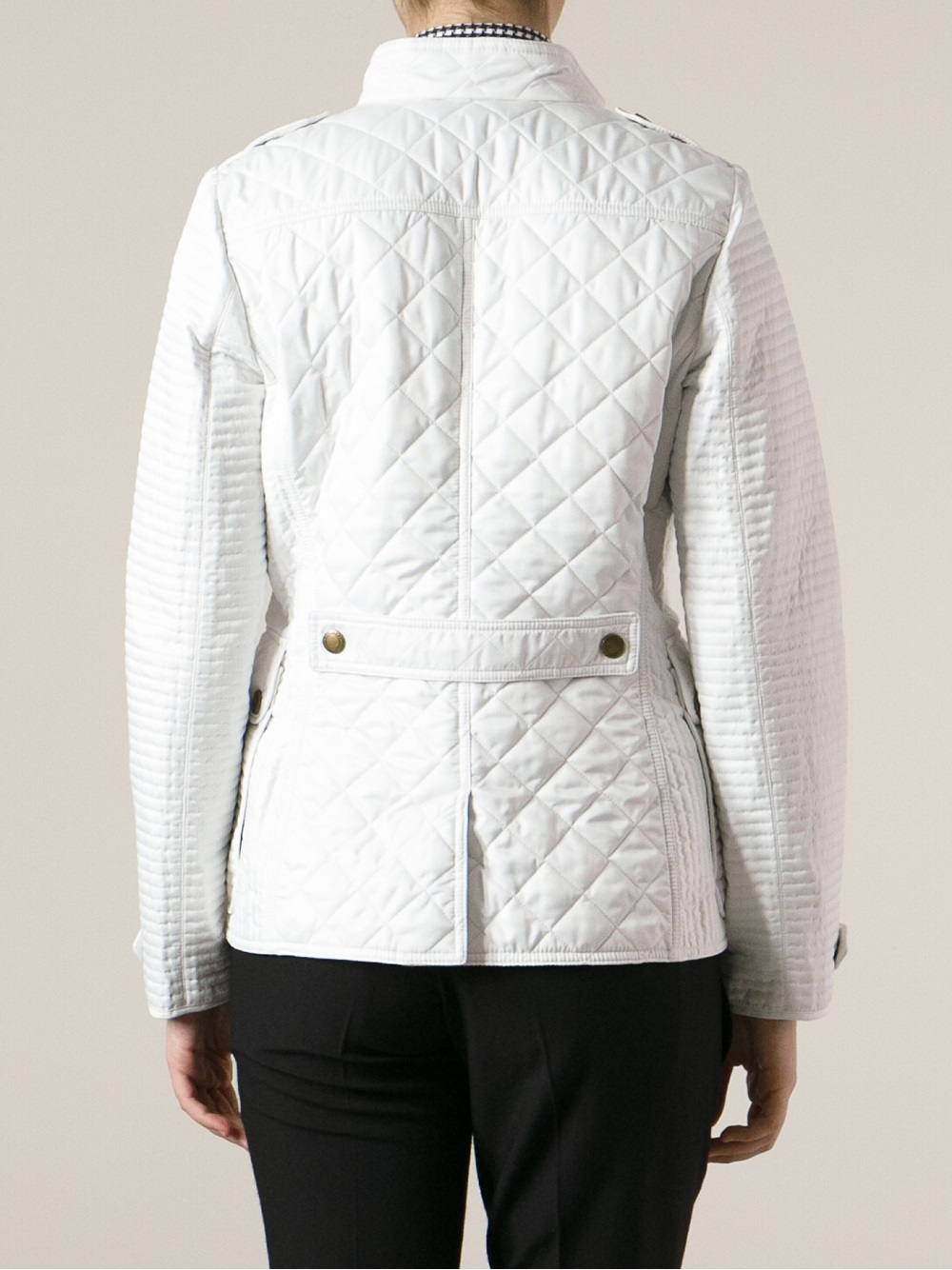 Lyst Burberry Brit Willsmoore Quilted Jacket In White