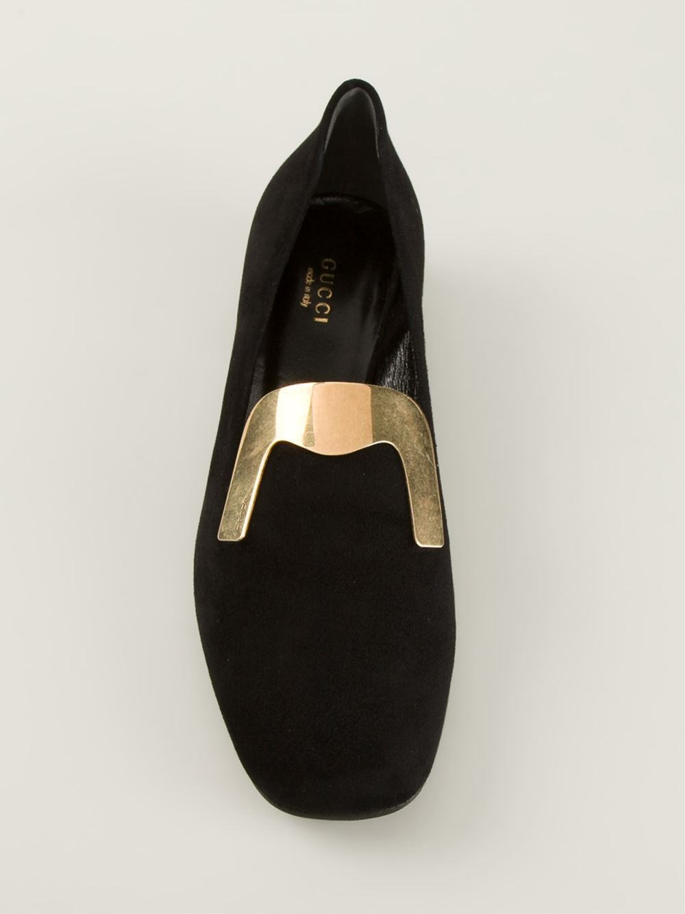 3b01be777a4 Lyst - Gucci Square Toe Loafers in Black