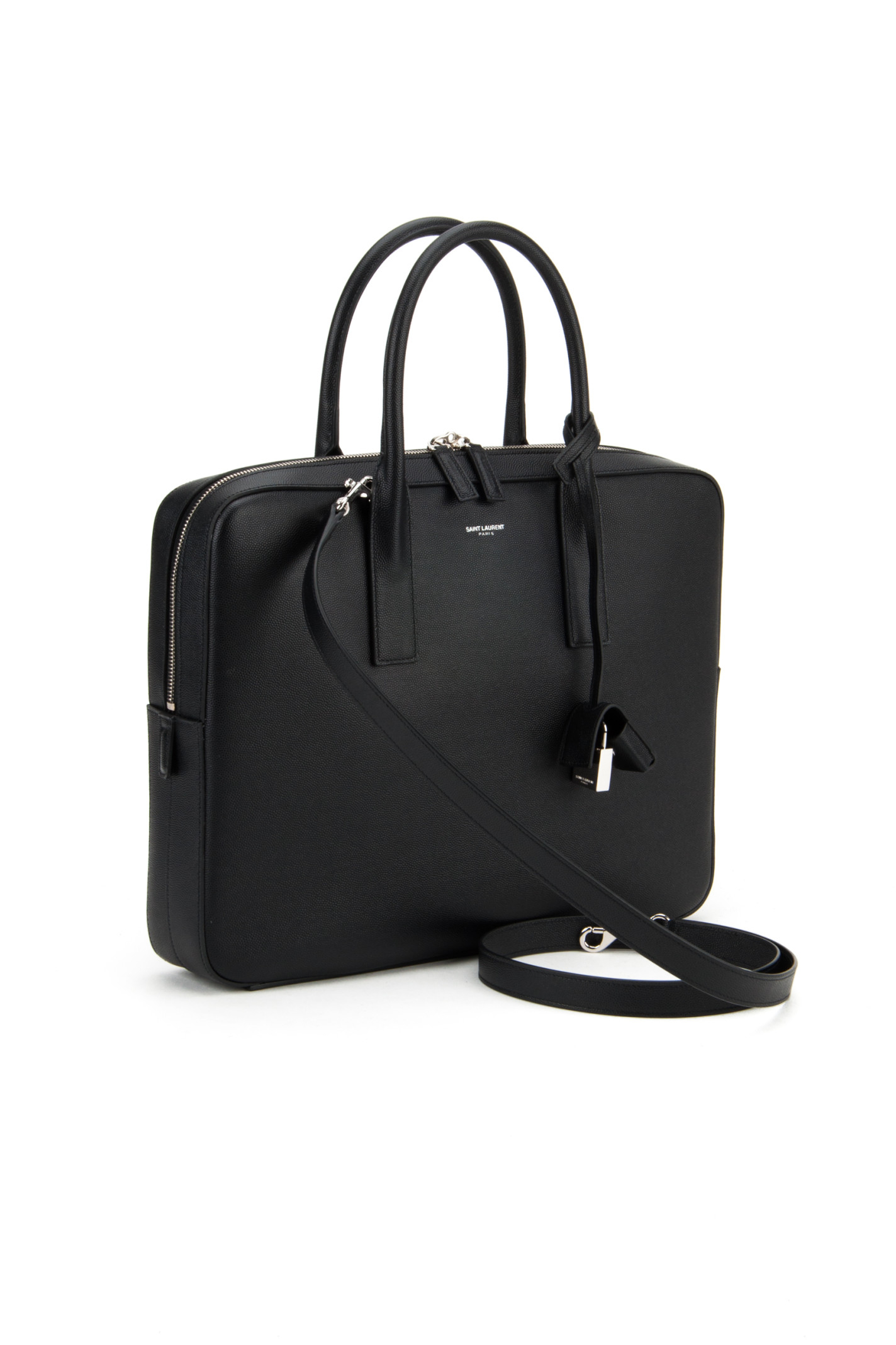 Saint laurent Ysl Borsa Valigia Museum Hunting Line in Black for ...