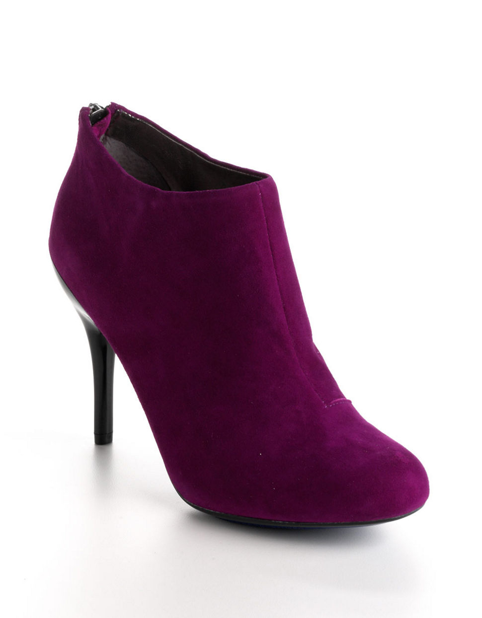 kenneth cole reaction joni arc suede ankle boots in purple