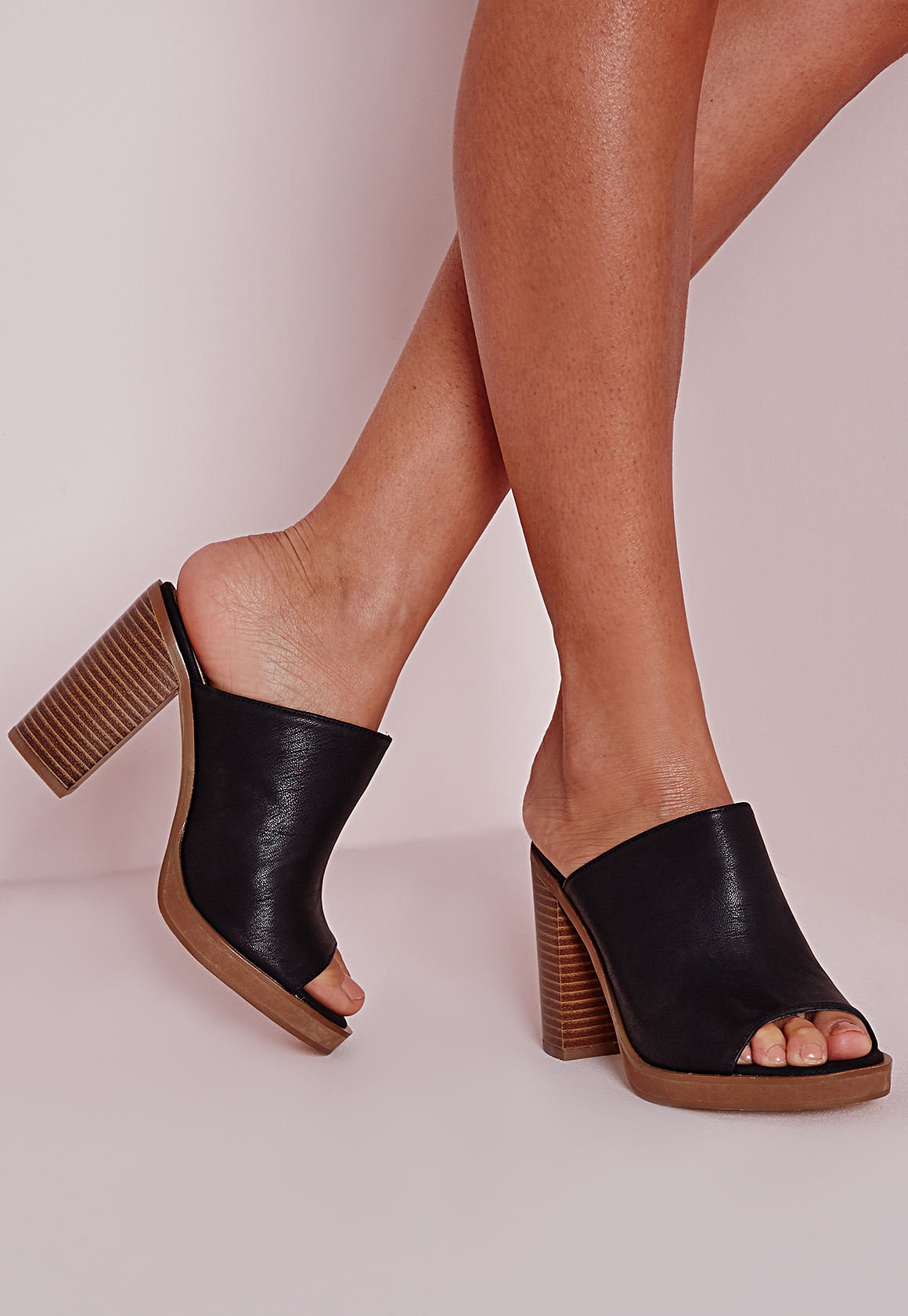Black Patent Mule Shoes