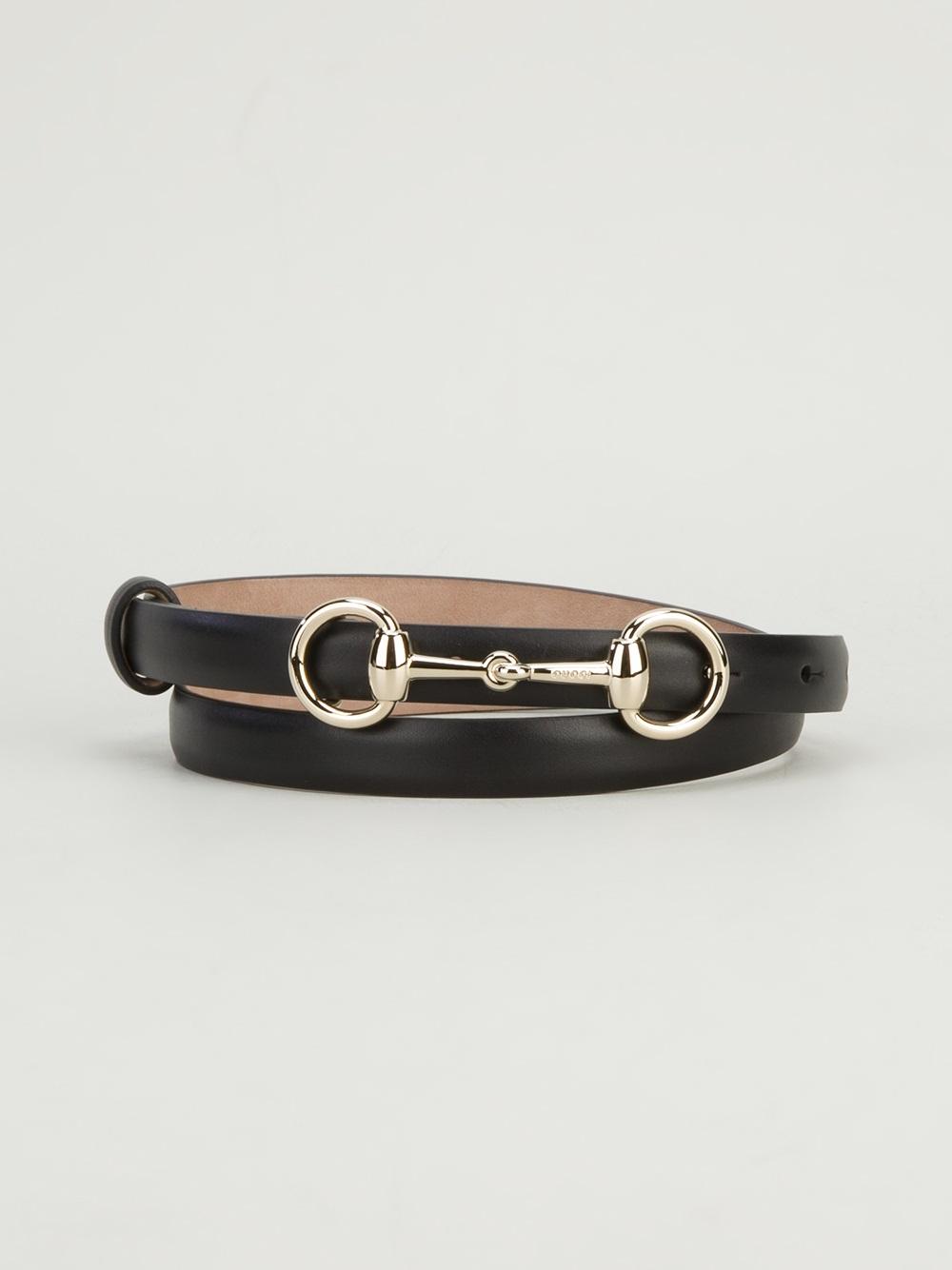 black leather belt with Horsebit Gucci NkjEa9oLk