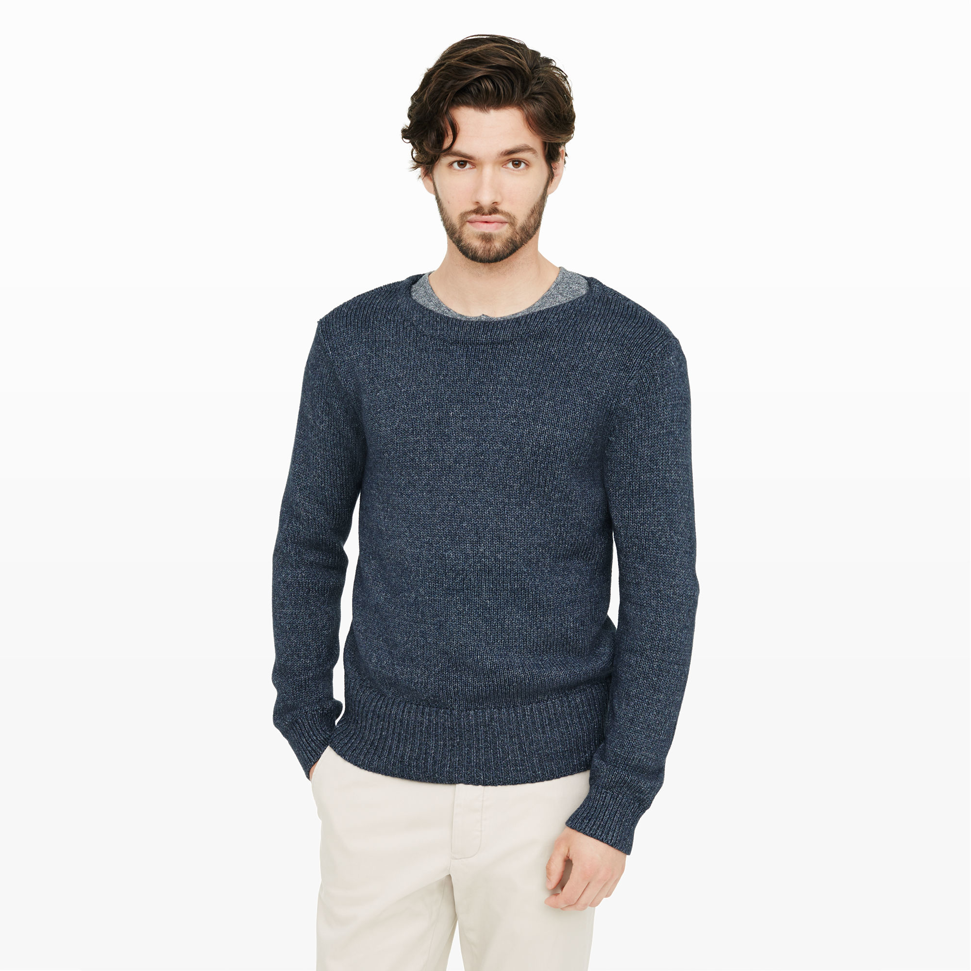 Club monaco Cotton Boatneck Sweater in Blue for Men | Lyst