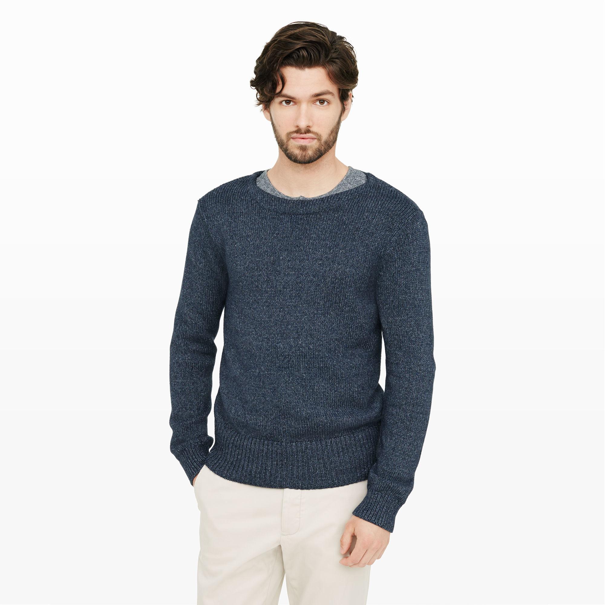 Club monaco Cotton Boatneck Sweater in Blue for Men | Lyst