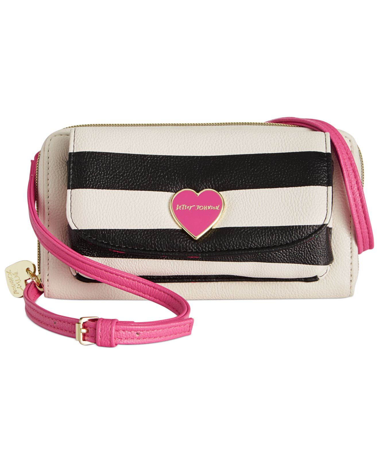 585101a58878 Lyst - Betsey Johnson Macy's Exclusive Wallet On A String Crossbody ...