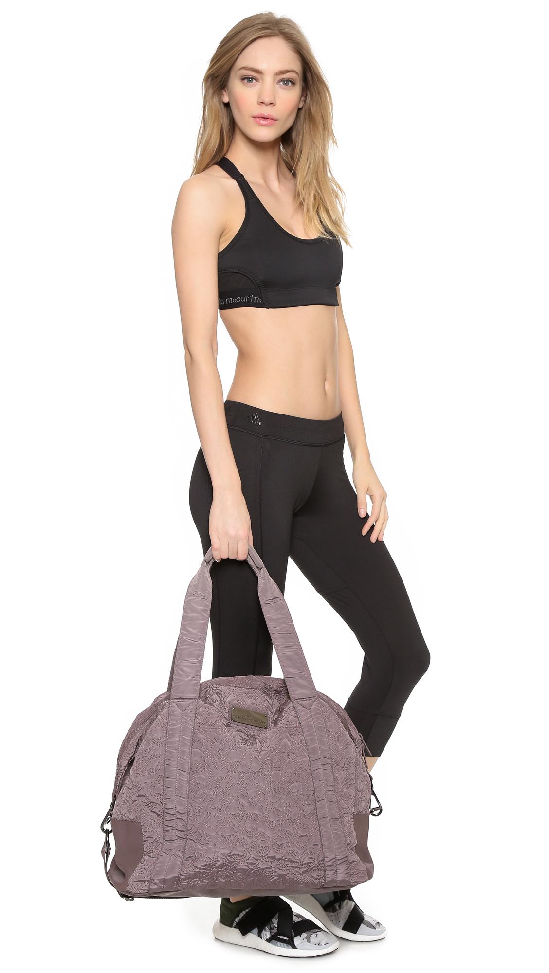 Adidas By Stella Mccartney Oversized Gym Bag Cement Grey