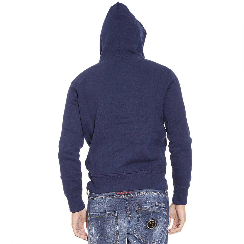 Ralph Lauren Sweater Classic Hooded Fleece Zip In Blue For