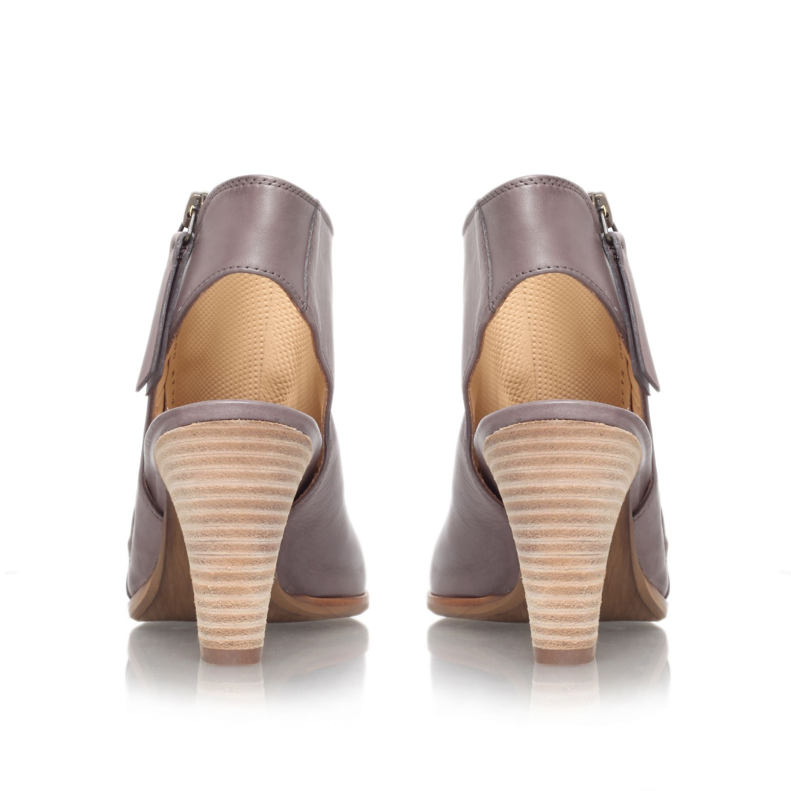 paul green annabel mid heel peep toe shoe boots in gray