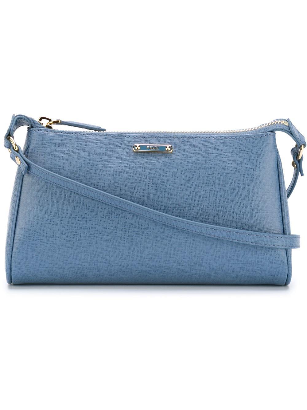 6049dd663156 ... france fendi micro crayons cross body bag in blue lyst aa65a 10174