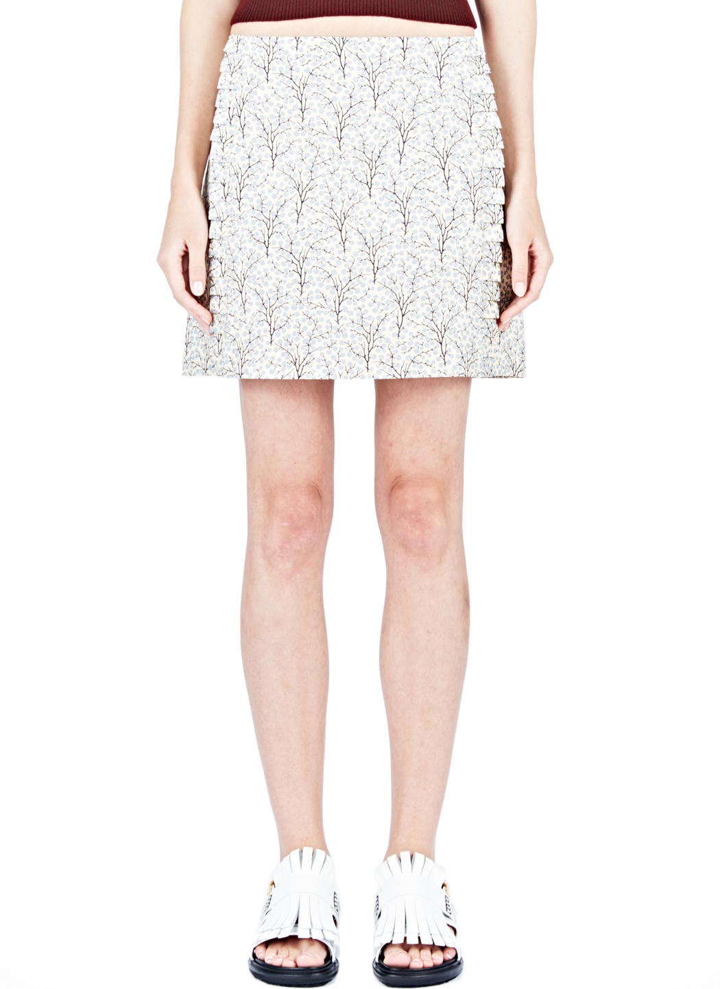 marni printed miniskirt in white lyst. Black Bedroom Furniture Sets. Home Design Ideas