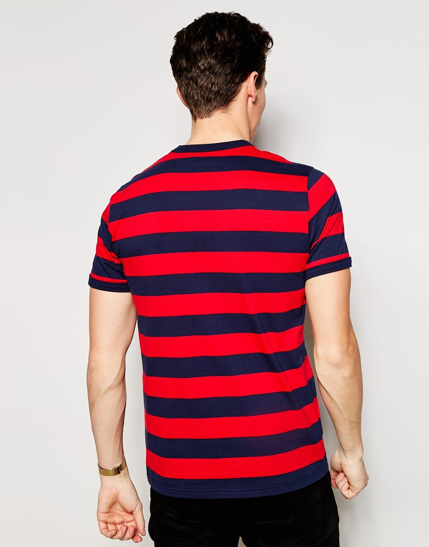 Lyst Fred Perry T Shirt With Bold Stripe In Blue For Men